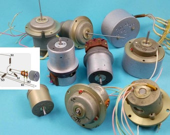 Aircraft Selsyn Synchro Electromechanical Drive | Military Navy Electro Drive | Self-synchronous System | Steampunk Industrial Accessory NOS