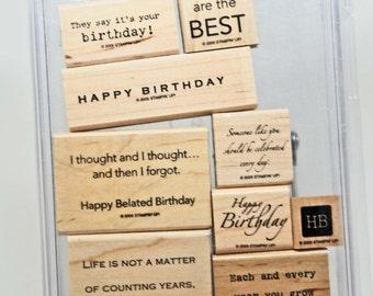 DESTASH -- Stampin Up -- It's Your Birthday -- Happy Birthday