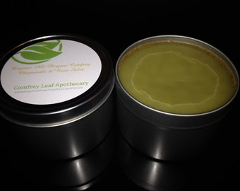 Organic All Purpose Healing Comfrey, Chamomile & Rose Salve 16 oz