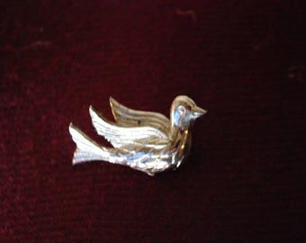 bird, silver, vintage, pin, brooch, sale