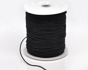 3 m black 0.8 mm thick stretch wire