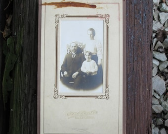 Vintage Cabinet Photograph Victorian Father and Sons on Mat Board