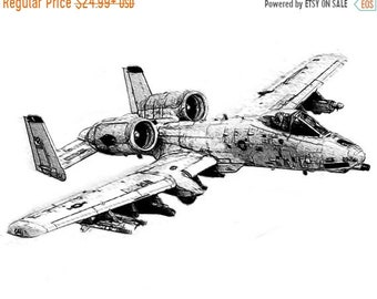 40% OFF SALE A-10 Thunderbolt Drawing T shirt