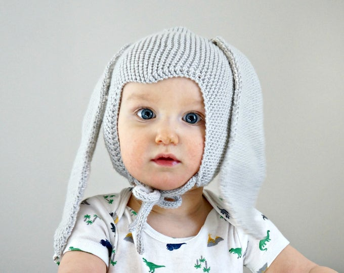 Featured listing image: KNITTING PATTERN - The Bunny Bonnet