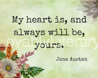 Jane Austen Sense and Sensibility Printable Valentines Day Card
