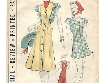 PWAP-0168 Vintage Pictorial Review Printed Pattern 9667 S14