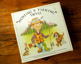 Vintage 80s Hunting and Fishing Trivia Board Game