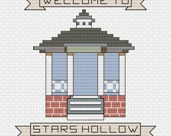 Gilmore Girls Gazebo Cross Stitch Pattern
