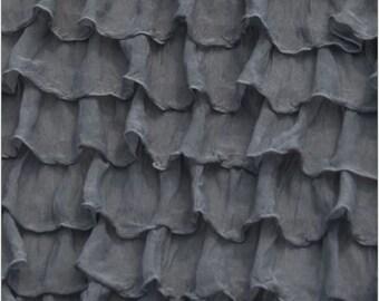 Gray Ruffle Bed Skirt - Twin, Full, Queen, King Size Bed Skirt - Long Ruffle Skirt - Ruffle Bedskirt - Grey Dust Ruffle - Grey Bedding