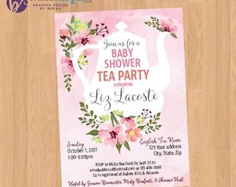 Tea Party Shower Invitation Printable