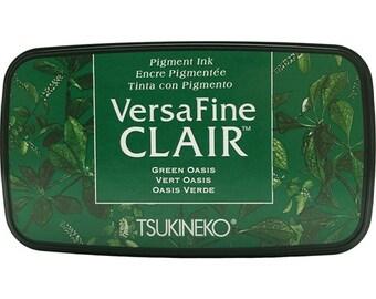 Tsukineko VersaFine Clair GREEN OASIS Ink Pad