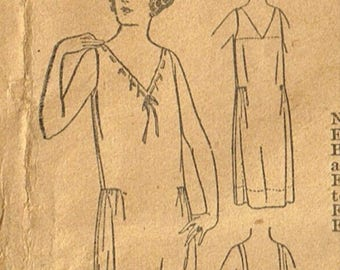 Antique UNPRINTED SLIP Underwear Pattern 1688 Pictorial Review Rare Fabric Material Sewing Ladies Vintage 1900's Size 38 Bust
