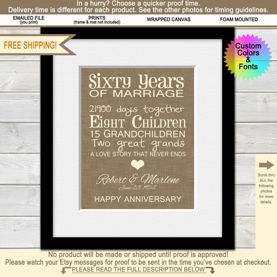 Anniversary Gift Lists By Year: 60th Anniversary Gifts For Grandparents 60th Wedding