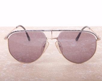Christian Dior 2582 rare half rimmed aviator vintage designer sunglasses, NOS 1980s
