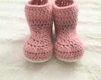 PDF PATTERN* Simple Baby Booties Crochet PDF Pattern - 6-12 Month Size Booties -Beginner Pattern - Double Lined Baby Booties - Baby Crochet