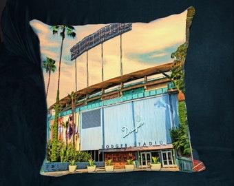 Dodger Stadium, PILLOW, World Series, Los Angeles Dodgers, Guy Gift, Man Cave, Baseball Stadium, LA Dodgers, Ballpark, Boyfriend Gift