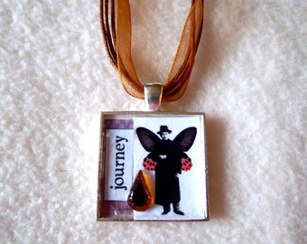 Journey Collage Pendant Necklace No.20