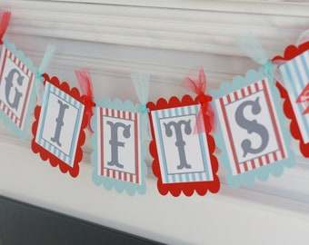 """Birthday, Bridal Shower, Wedding or Baby Shower """"Gifts"""" Banner - Pick ANY Theme in My Shop"""