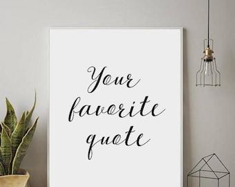 Custom Word Art, Custom Poster, Personalized, Custom Print, Custom Quote, Quotes Printable, Wall Decor Custom, Wall Art, Modern Wall Art
