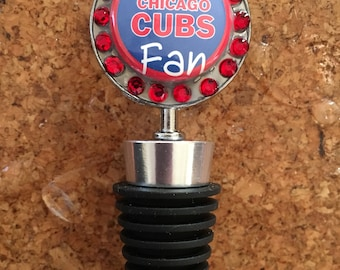 Cubs Fan Art bottle stopper