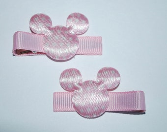 Mickey Mouse Pink Dot Hair Clips - Buy 3 Items, Get 1 Free