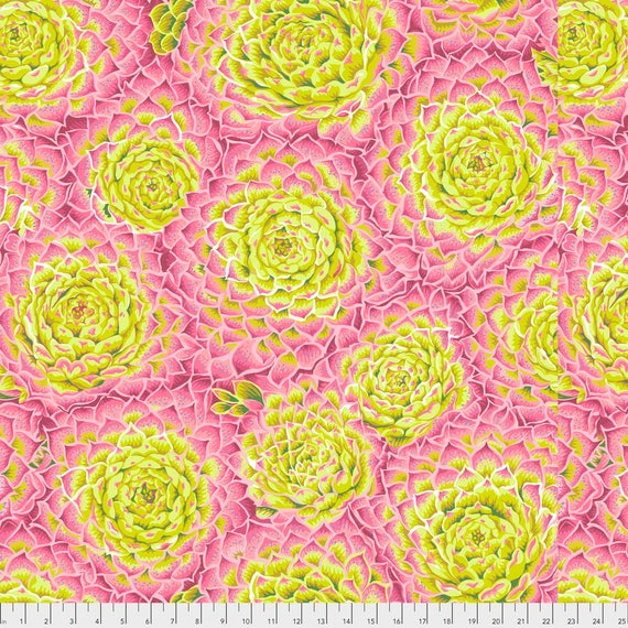 SUCCULENT LIME PWPJ091  Philip Jacobs for Kaffe Fassett Collective Sold in 1/2 yard increments Pre-Order Item