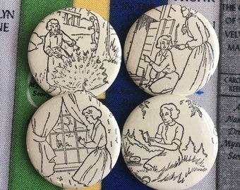 Nancy Drew buttons, vintage nancy drew book,  1.5 inch pin back button, 37 mm pinback button