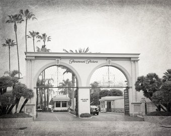 Hollywood, Paramount Pictures, Los Angeles Print, Movies, California, LA Wall Art, Photography, Fine Art Print, Color or Black and White