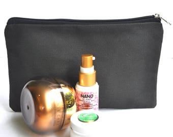 Storage pouch  , Botanical Supply Bag. Project Bag,  Make-up Storage Pouch.  Clutch. Toilettes pouch , Zipper Pouch