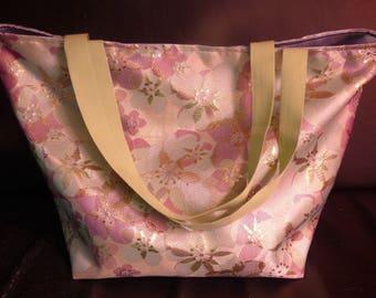 Xxl floral Brocade weekend bag tote bag