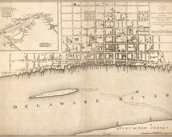 Poster, Many Sizes Available; Map Of Philadelphia Pennsylvania 1776