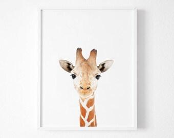 nursery decor, nursery wall art, Giraffe Print, animal nursery prints, nursery animal print,animal print for nursery,nursery