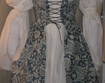 DDNJ Renaissance Fully Reversible Overdress Choose Chemise Plus Custom Made ANY Size Larp Anime Medieval Maiden Princess Lolita Wench Pirate