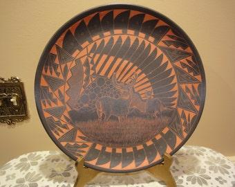 K Yazzie Navajo Designer Plate/Sculpture/Collectibles/Art and Collectibles/K Yazzie/Native American Art/Native American Sculpture/Pottery
