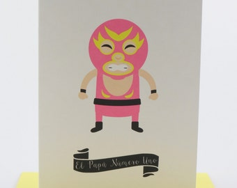 Lucha Libre Card, Father's Day Card, Spanish Card, Spanish Fathers Day Card, Feliz día del Padre, Dad, Papa, Grandfather, Husband, Wrestling