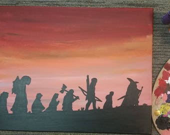 Lord of the Rings The fellowship acrylic painting