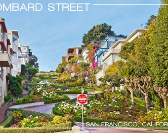 San Francisco, California - Lombard Street (Art Prints available in multiple sizes)