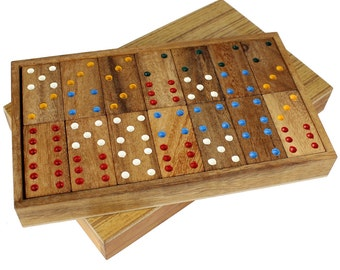 Domino Game in Classy Wooden Gift Box – Personalised with Name