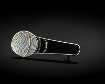 Microphone Pin Badge - Shure SM58 Style