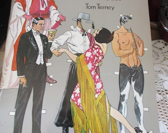 1979 Vintage Rudolph Valentino Paper Doll book by Tom TIerney - From a paper doll collectors collection! - Estate find!