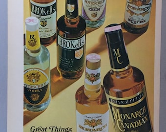 1972 Dewar's White Label Scotch Print Ad