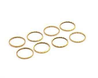 Brass Circle Connector, 50 Cutting Raw Brass Circles (12mm) A0583