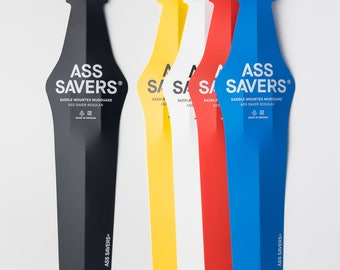 ASS SAVERS - Generation 4 - Clip On Bicycle Rain Fender w Flip Tip Technology