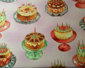 Sweet Stuff Cakes Quilting Fabric, Robert Kaufman, Yard