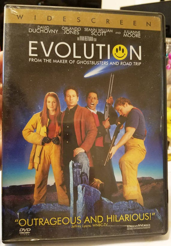 Evolution dvd funny comedy sci fi aliens movie David Duchovny Orlando Jones