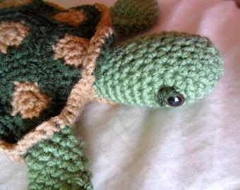 Green Sea Turtle Plush - Green and Brown Sea Turtle Plush - Green Sea Turtle Plushie - Green Sea Turtle Amigurumi - Green Sea Turtle Doll