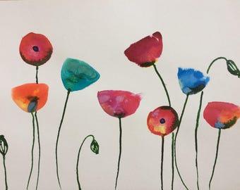 Poppies - Original Painting