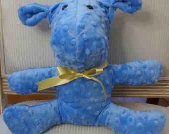 Blue bunny - yellow ribbon
