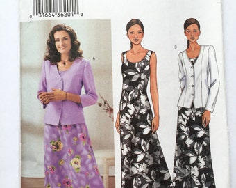 Butterick 3758 Dress and Jacket Sizes 8-10-12