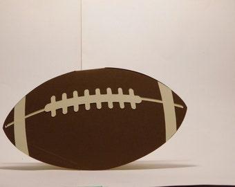 Football shaped card